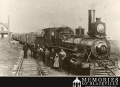 Engine #21 in front of Blackville Station in 1900