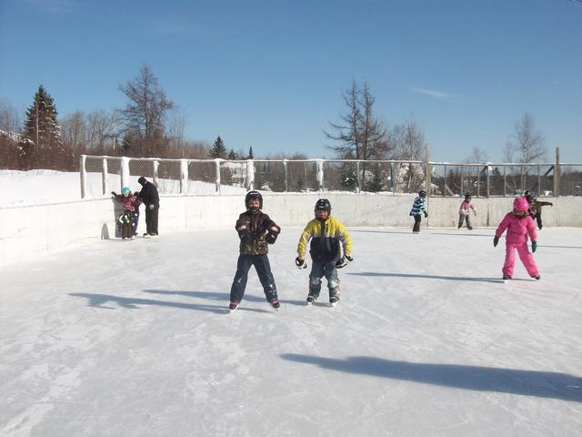 Blackville School students enjoying the Outdoor Rink