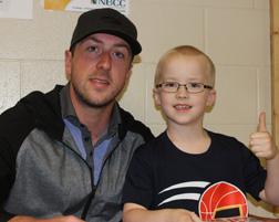 NHL Player Jake Allen Visits Blackville School