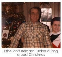 Ethel and Bernard Tucker during a past Christmas
