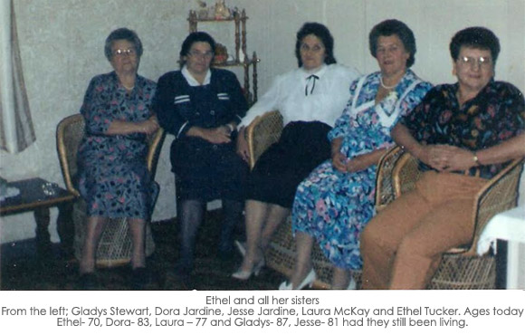 Ethel Tucker and her sisters