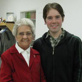 Gram and I at the Keenan Christmas party, December 2009.