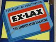 A box of Ex-Lax chocolate laxative