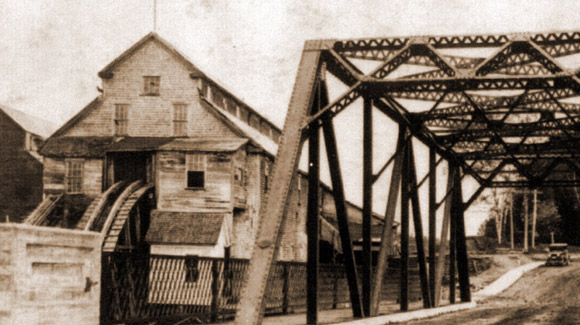 The lumber mill and the mill bridge