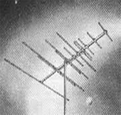 A typical television antenna.  Once televisions became popular, these antennas could be seen sprouting from the top of most houses in Blackville.