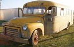 Blackville Rural High School 1950s era school bus