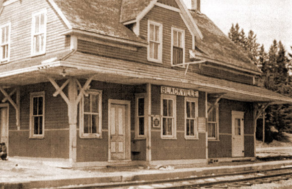 The Blackville train station.  The Davidson house was across the tracks.
