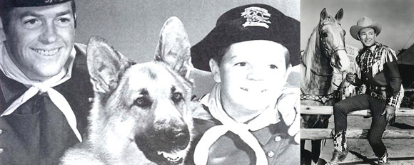 Images from the 1950s Rin Tin Tin and Roy Rogers television shows