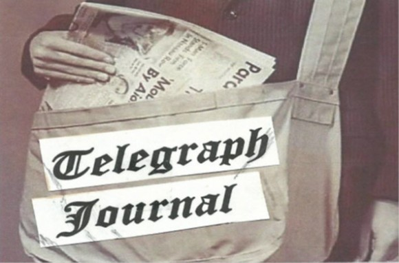 A canvas newspaper carrier bag, similar to the one I used to deliver the Telegraph Journal