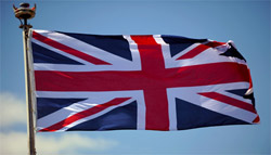 Canada's Union Jack flag.  This was our country's flag, until our new Canadian flag was adopted many years later.