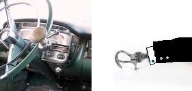 A steering wheel knob, and a prosthetic hand, similar to Mr. Corney's