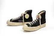 1950s style Converse high top sneakers, with the circle of white rubber at the ankle