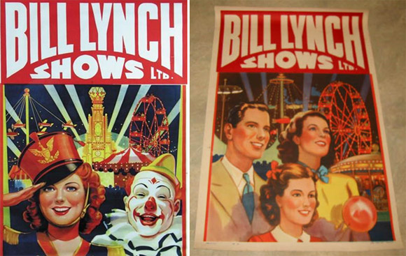 Bill Lynch Shows circus posters like those that were posted around Blackville